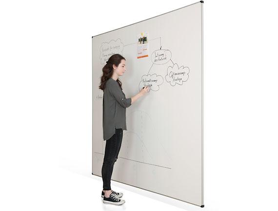Ganze Wände 2 x 2 bis 5 x 3 Meter Whiteboard-Wand