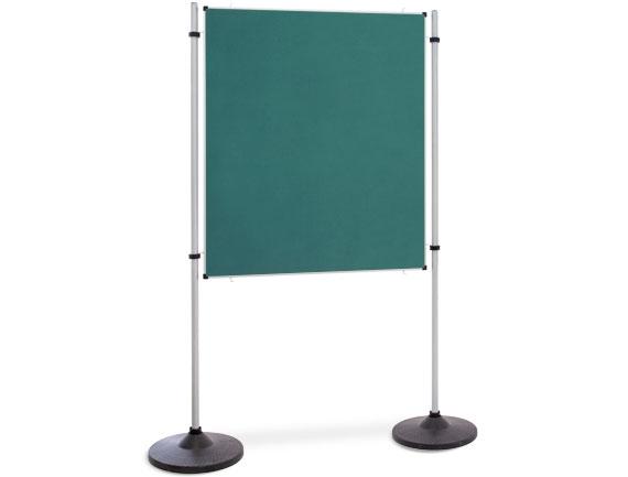 Kombinationswand Präsentations- und Kommunikationswand Flanell Grün