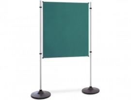 Präsentations- und Kommunikationswand Flanell Grün